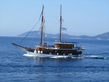 Barco en el Adriático