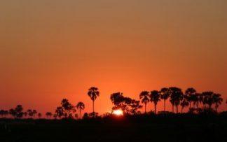Puesta de sol en Namibia