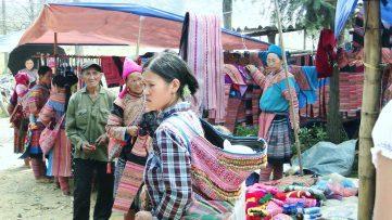 Mujeres vietnamitas en el mercado