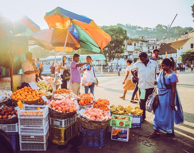 Puesto de comida en Sri Lanka