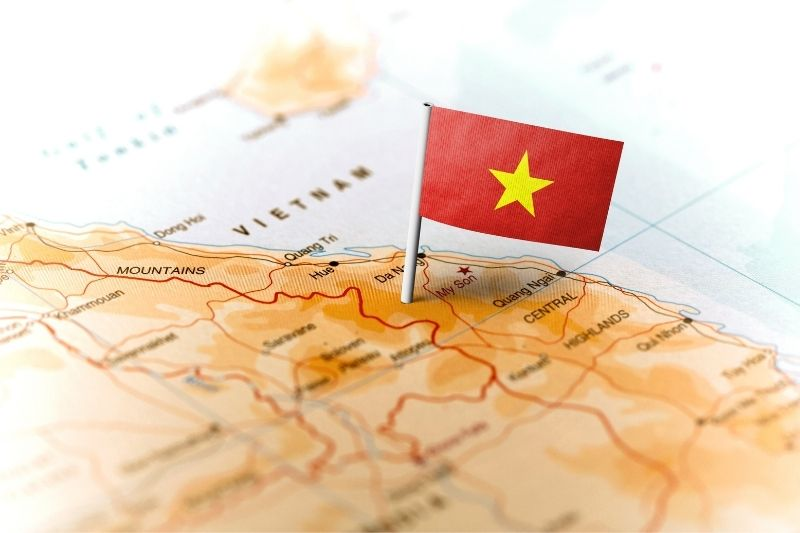 Mapa turístico de Vietnam