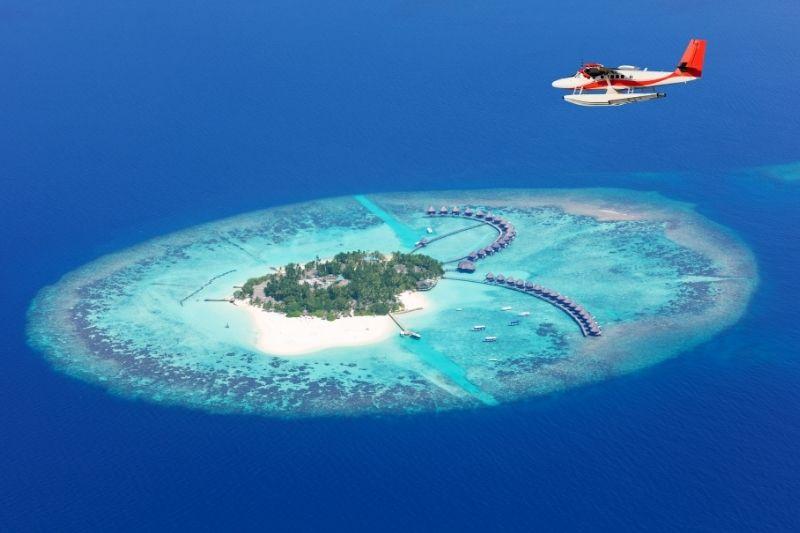 Avioneta en Maldivas